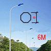 Cột đèn bát giác liền cần 6M BGC6